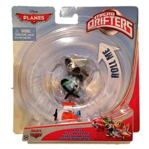 Disney Pixar Planes Micro Drifters Hector Vector, Supercharged Dusty, Bravo